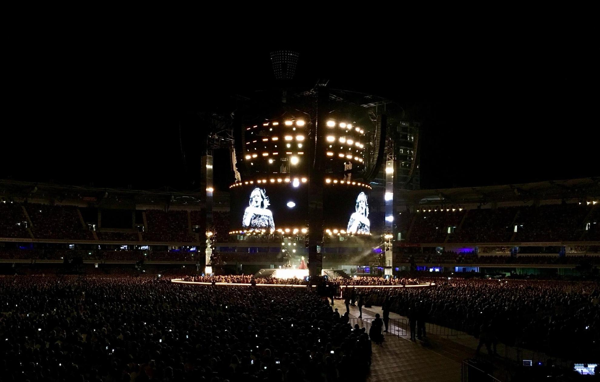 Det kommer ofte store artister på turné i Australia, så vi fikk med oss både Coldplay og Adele da vi var der