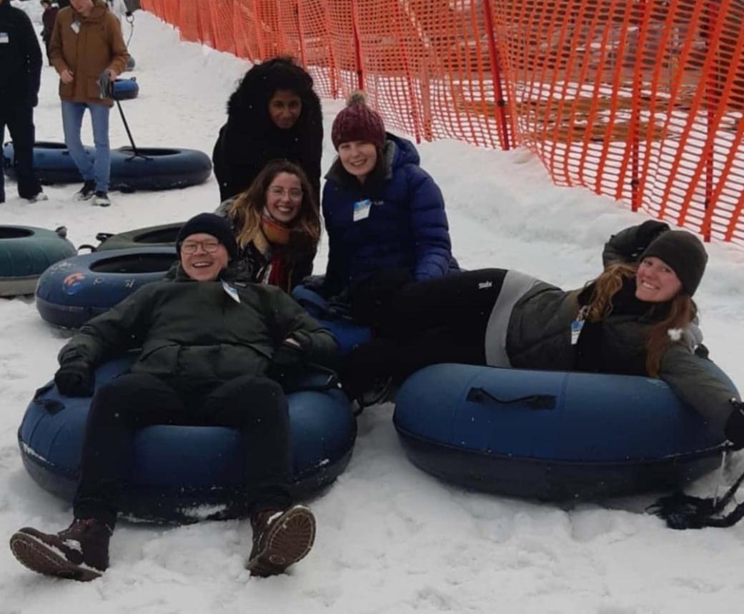 Snow tubing med ICSN