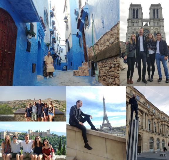 Bilder fra diverse turer (Chefchaouen, Toledo, Granada, Paris)