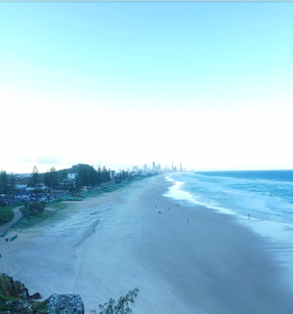 Utsikt over Surfer's Paradise.